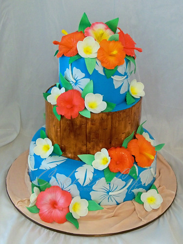 tropical themed wedding cakes hawaiian themed wedding cake 09 2011 top two tiers were 21273