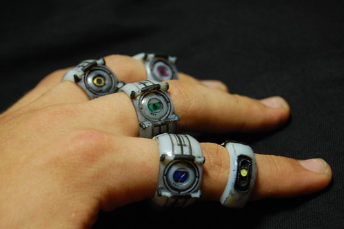 GLaDOS and Personality Core Rings | by ammnra