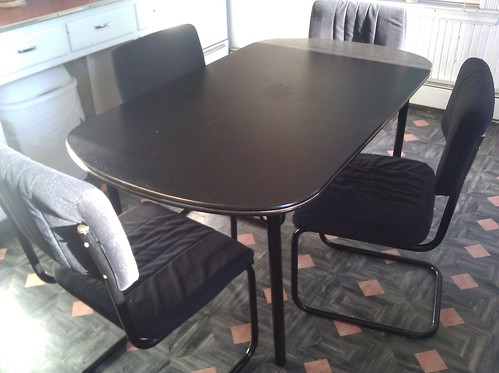 kitchen table and four chairs for sale the table and chair flickr. Black Bedroom Furniture Sets. Home Design Ideas