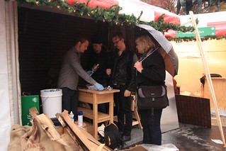 Union Square Holiday Market buildout | by Dallis Bros. Coffee