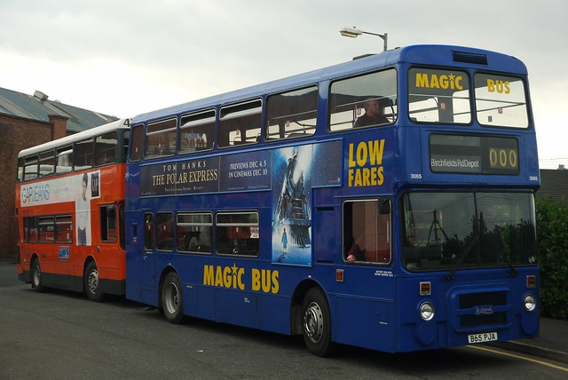 Leyland Olympian B65 PJA, Stagecoach/Magic Bus livery, Greater Manchester Museum of Transport