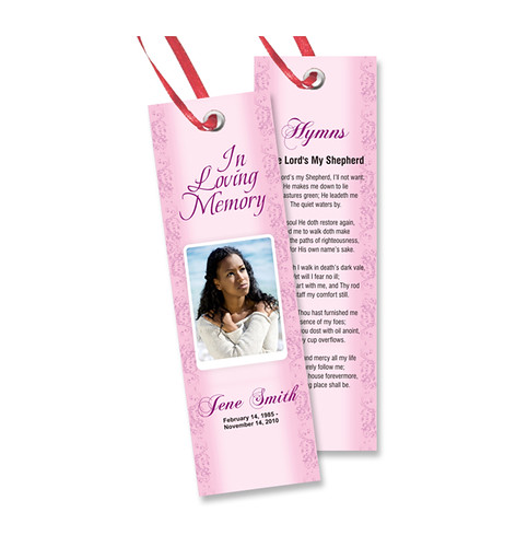 memorial bookmarks template free - free memorial bookmarks templates download we specialize