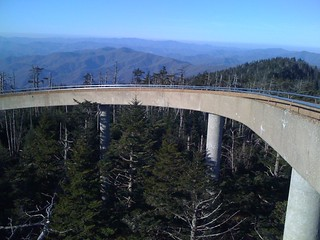 The last part of the ramp to the top of the clingman's dome lookout tower | by kartoone76