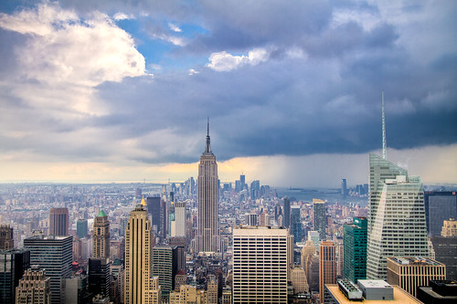 The Coming Storm: Rain and Shine in Midtown Manhattan | by RBudhu