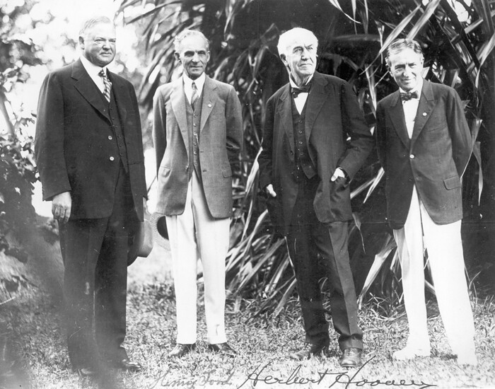 Ford Friends And Family >> President Herbert Hoover, Henry Ford, Thomas Edison, and H… | Flickr
