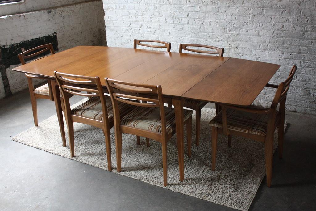Sweet MCM Walnut Drop Leaf Dining Table w Six Cat Eye Cha  : 6441648257faf9645681b from www.flickr.com size 1024 x 683 jpeg 310kB