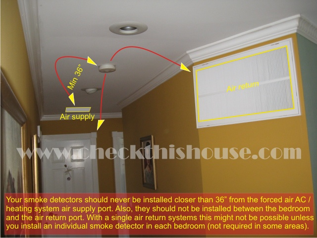 Smoke detector placement in air supply vent area your - Smoke detector placement in bedroom ...