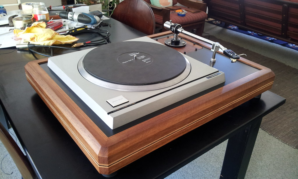 Technics SP-10 Mk2 Plinth Build - table and arm fitted | Flickr