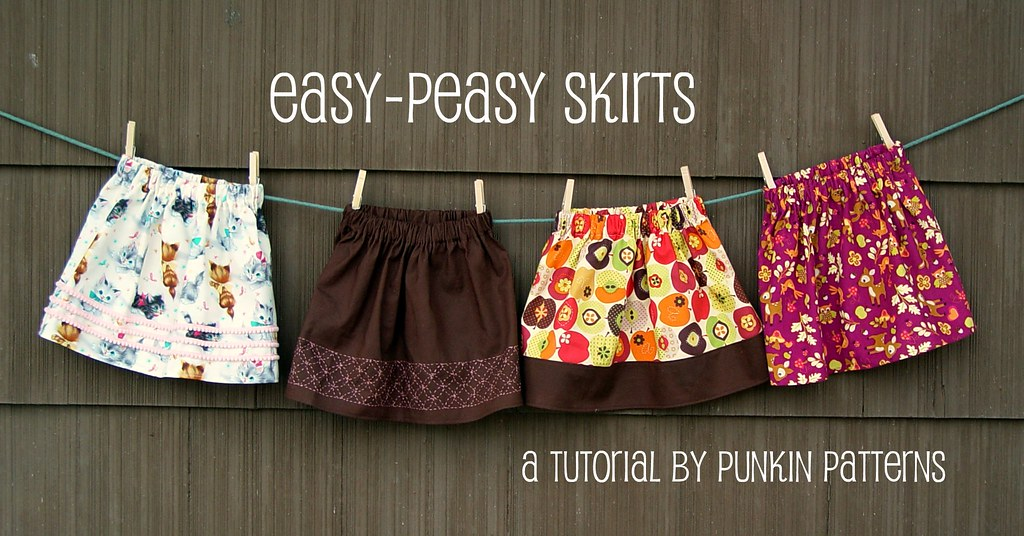 Easy Peasy Skirts Easy Peasy Skirt Tutorial On Punkin
