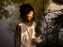 Blinded by the light, Village near Can Tho - Mekong Delta