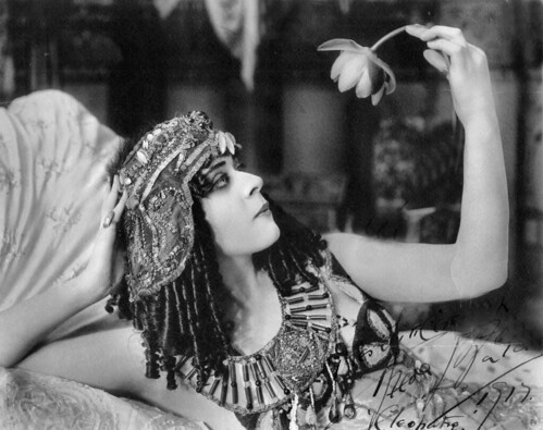 "Theda Bara in the title role of the film ""Cleopatra"" (1917) 