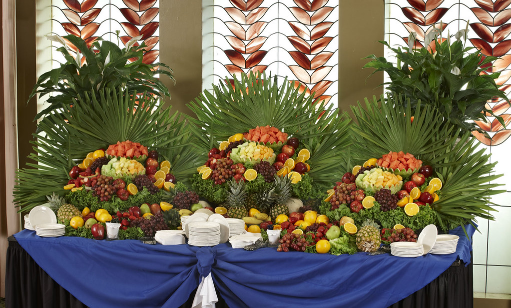Waterfall Fruit And Veggie Displays: Martin's Caterers