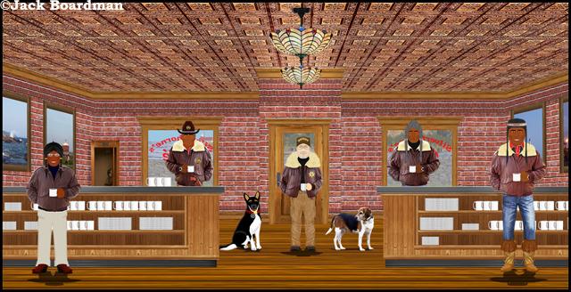 Sheriff Boomer at Silverthorn's Café ©Jack Boardman