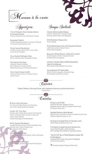 Celebrity Century - Murano Restaurant reviewt