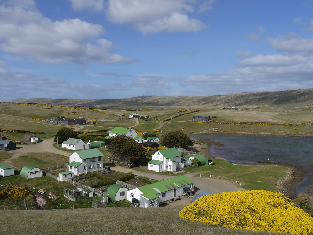 Port Howard West Falkland Beautifully Sunny But Also
