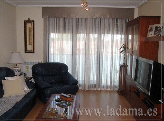 Decoraci n para salones cl sicos cortinas con dobles - Salones con cortinas ...