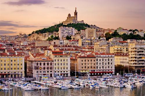 Marseille le vieux port et notre dame de la garde le mati flickr - Pharmacie de garde marseille vieux port ...