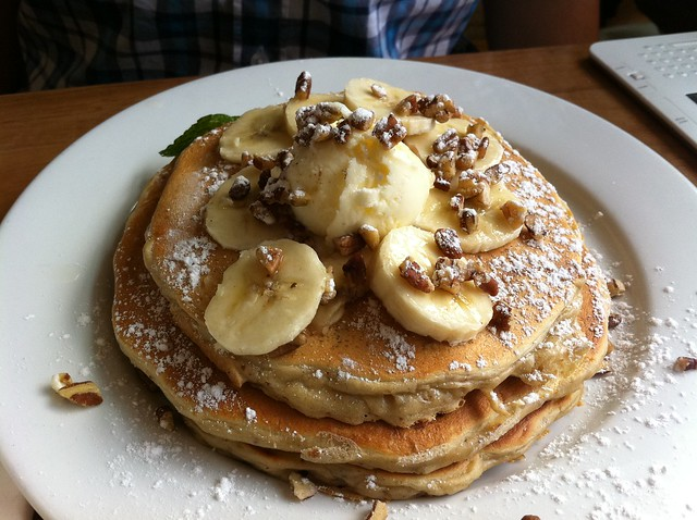 Banana & Pecan Pancakes | Flickr - Photo Sharing!