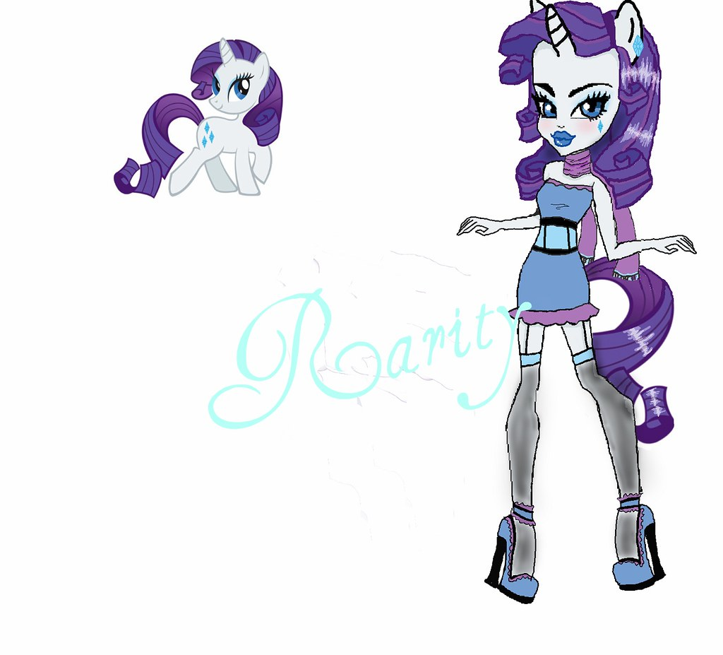 My Little Pony Monster High Coloring Pages : Monster high rarity from my little pony de
