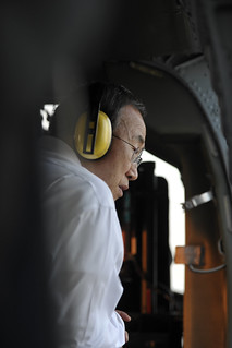 Secretary-General Sees Flood-Ravaged Bangkok from Helicopter | by United Nations Photo
