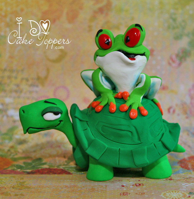 frog wedding cake toppers joshua turtle and frog visit www idocaketoppers to 4380