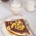 Cocoa Pancakes with Gorgonzola and Caramelized Pears