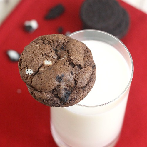 Double Fudge Oreo Crunch Cookies | by Tracey's Culinary Adventures