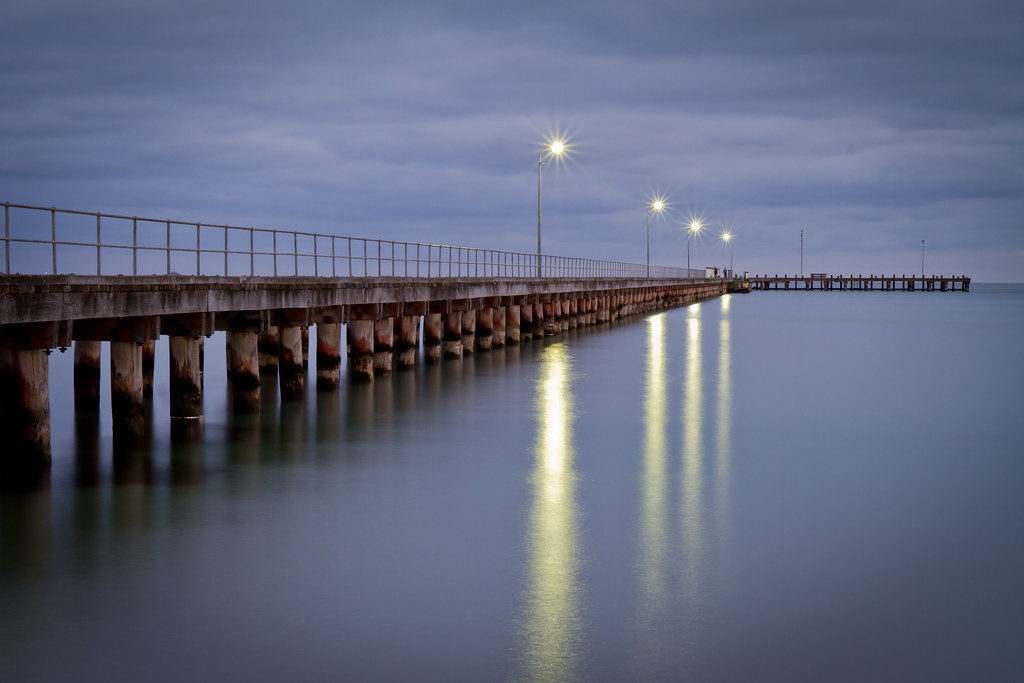 Rye Pier With Stars Before Sunrise At Rye Pier Victoria
