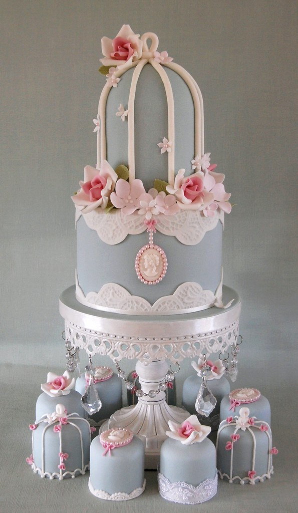 Shabby Chic Baby Shower Cake Topper