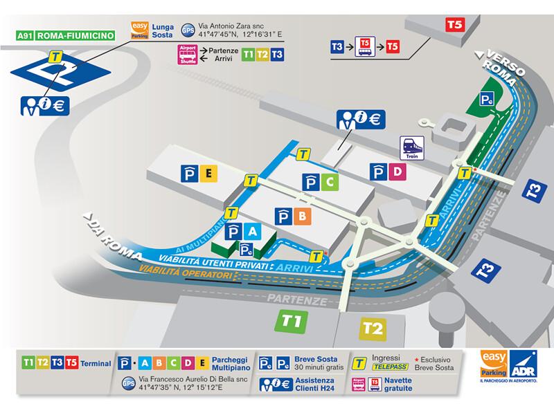 All sizes   La Mappa dell'aeroporto Leonardo da Vinci di ...