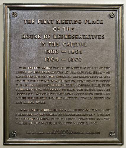 First Meeting Place of the House of Representatives in the Capitol Plaque | by USCapitol