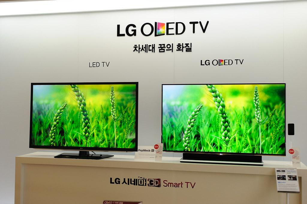 lg oled tv 55em9600 vs led tv www. Black Bedroom Furniture Sets. Home Design Ideas