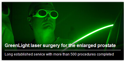 Greenlight Laser Surgery Prostate Cancer Treatment