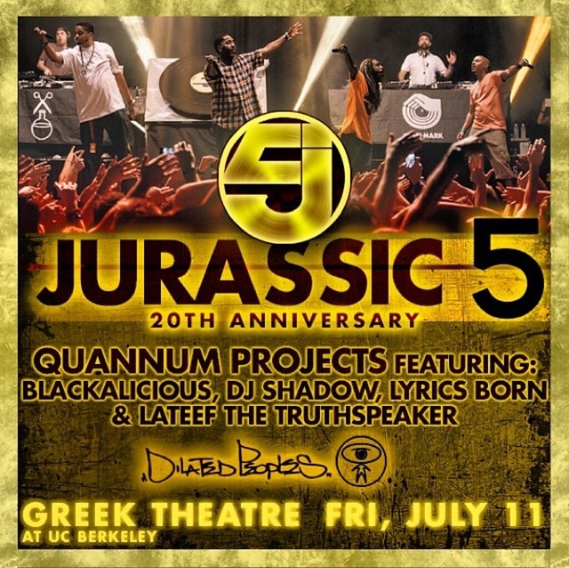 Jurassic 5, Blackalicious, DJ Shadow & more @ The Greek Theatre
