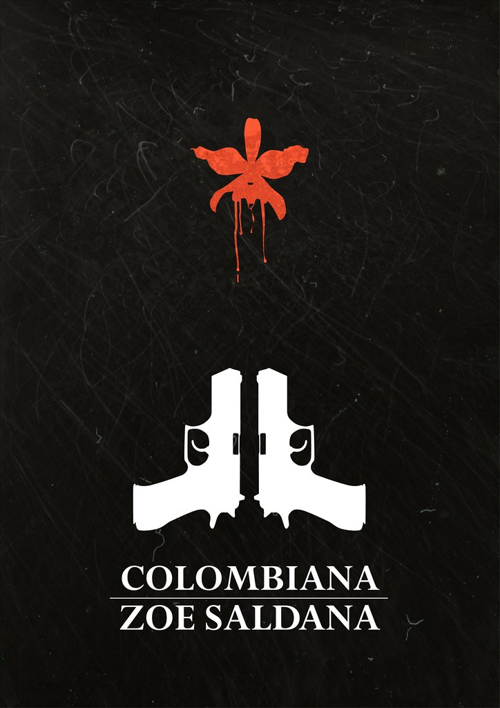 Colombiana - minimalist poster | I have not seen this ... Zoe Saldana Colombiana Poster
