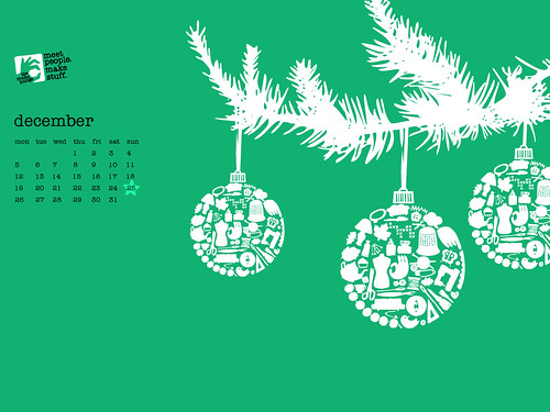 Xmas Calendar / Wallpaper - Free Download! | by :: the make lounge ::
