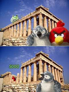 Roman Visits Greece and angry Red Bird | by bortwein75