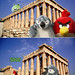 Roman Visits Greece and angry Red Bird