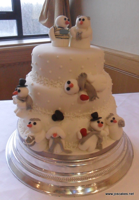 inspired wedding cakes w057 snowman themed wintery wedding cake flickr 16461