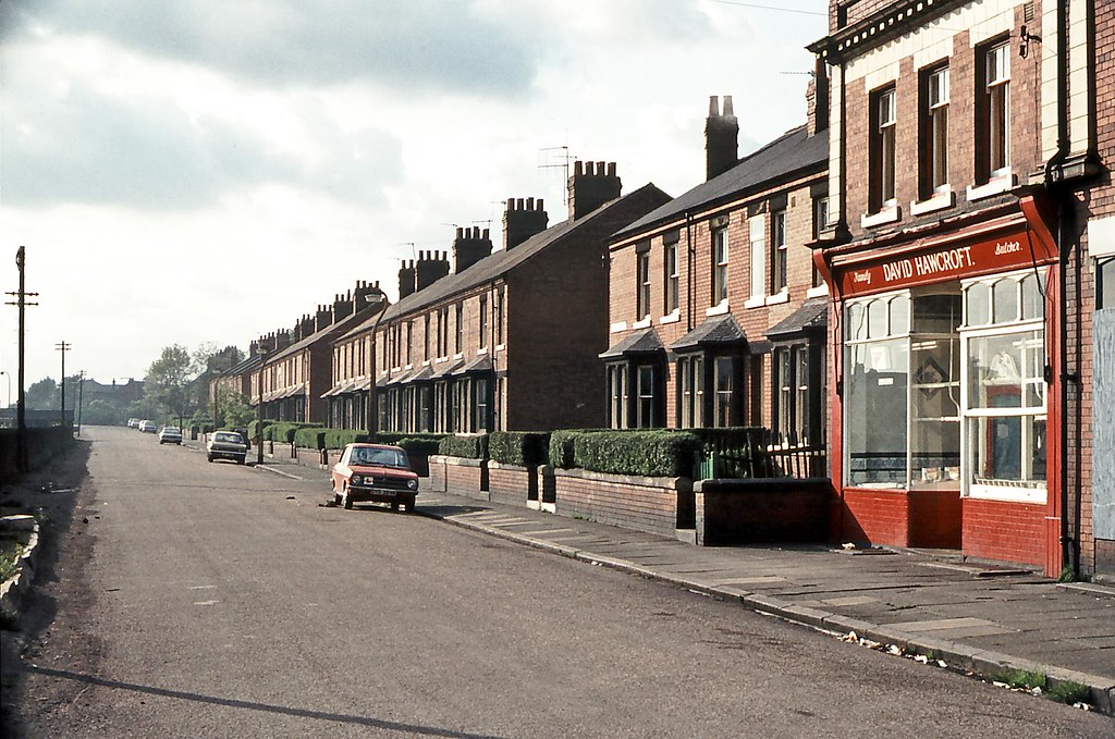 Fitzwilliam, West Yorkshire - 1975 | Street with butcher's ...