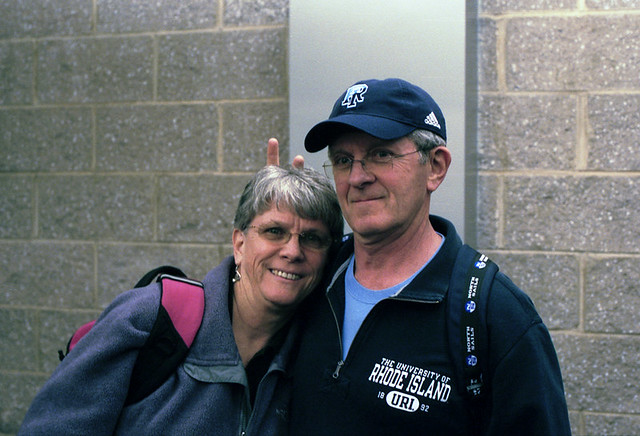 Mom and Dad at Newark Airport
