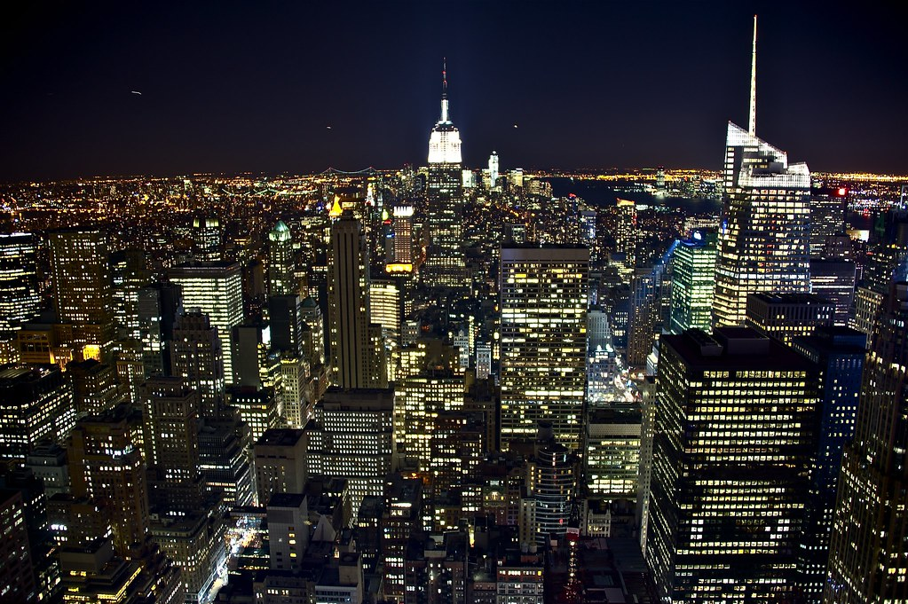 new york night view from top of the rock bernardo ricci. Black Bedroom Furniture Sets. Home Design Ideas
