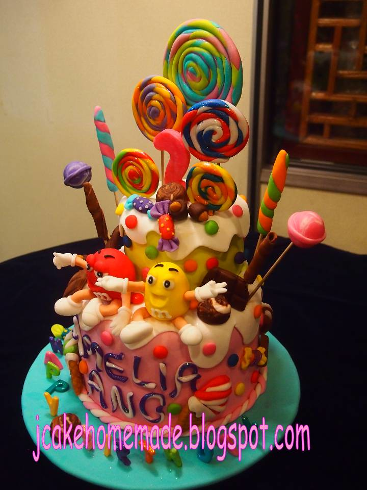 Candy Birthday Cake Happy 2nd Birthday Amelia Ang
