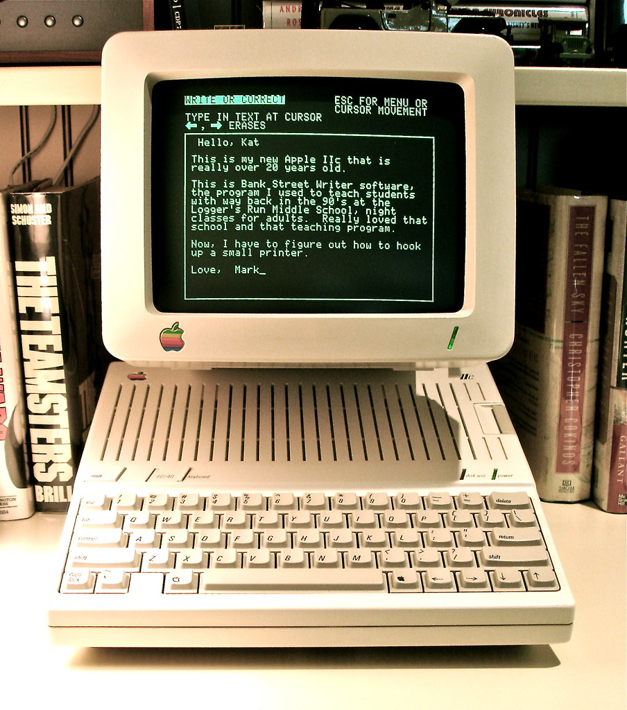 Apple Iic A Vintage Apple Computer Running Bank Street