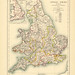 Section XIX Map page of The Ecclesiastical Geography of England from Historical atlas of modern Europe from the decline of the Roman empire : comprising also maps of parts of Asia and of the New world