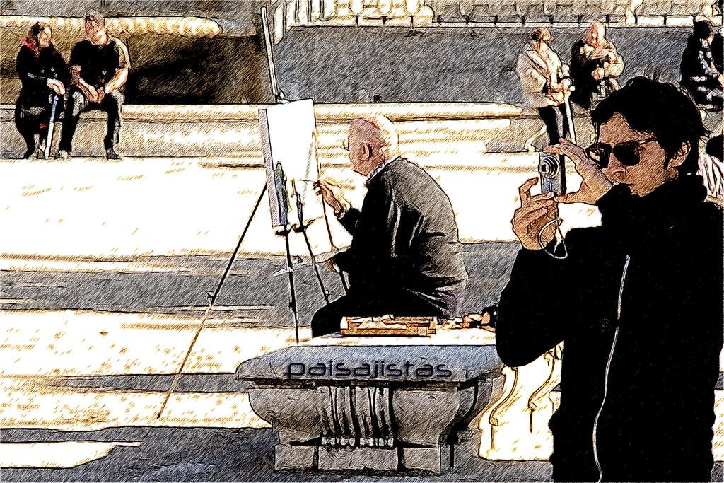 Calles de madrid paisajistas m a n u e l flickr - Paisajistas en madrid ...