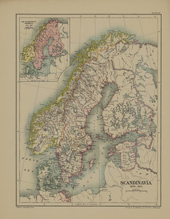 Map page of Section LI Scandinavia from 1521 to 1815 from Part V of Historical atlas of modern Europe from the decline of the Roman empire : comprising also maps of parts of Asia and of the New world connected with European history | by uconnlibrariesmagic