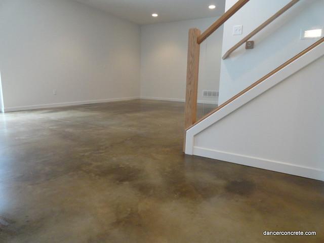 Stained Polished Concrete Floor Dancer Concrete Design