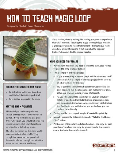 How to Teach Magic Loop teaching module, page 1 | by elizgm