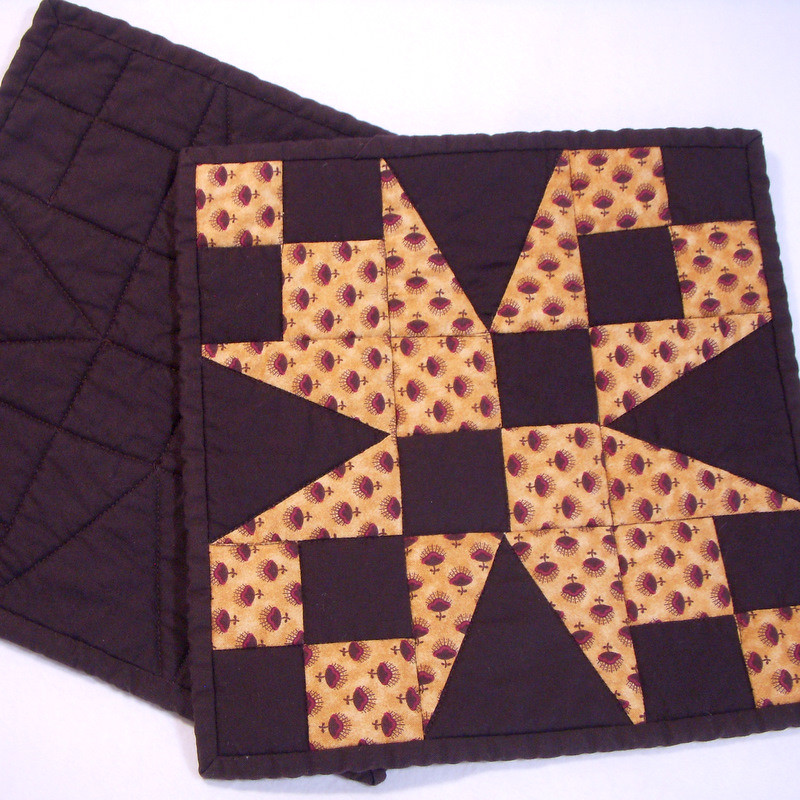 54 40 Or Fight Pot Holders I Had Left Over Blocks From A